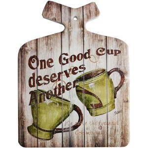 Enfeite Decorativo de Parede e Descanso de Panela Café Good Cup Coffee Retro