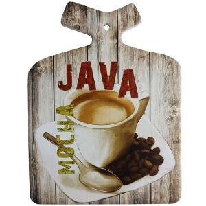 Enfeite Decorativo de Parede e Descanso de Panela Café Java Mocha Coffee Retro