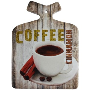 Enfeite Decorativo de Parede e Descanso de Panela Coffee Cinnamon Retro