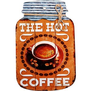 Enfeite de Porcelana Vintage The Hot Coffee Medidas: 23x15cm (AxL)
