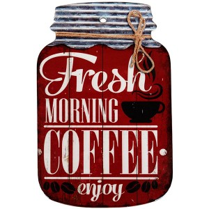 Enfeite de Porcelana Vintage Fresh Morning Coffee Enjoy Medidas: 23x15cm (AxL)