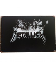 Placa de Metal Decorativa Metallica Banda de Rock Vintage